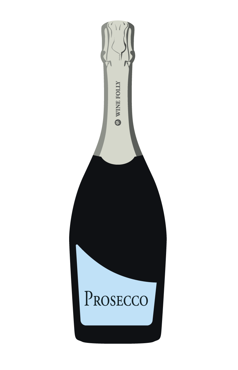 Cocktail clipart vintage champagne bottle. Vs prosecco the real