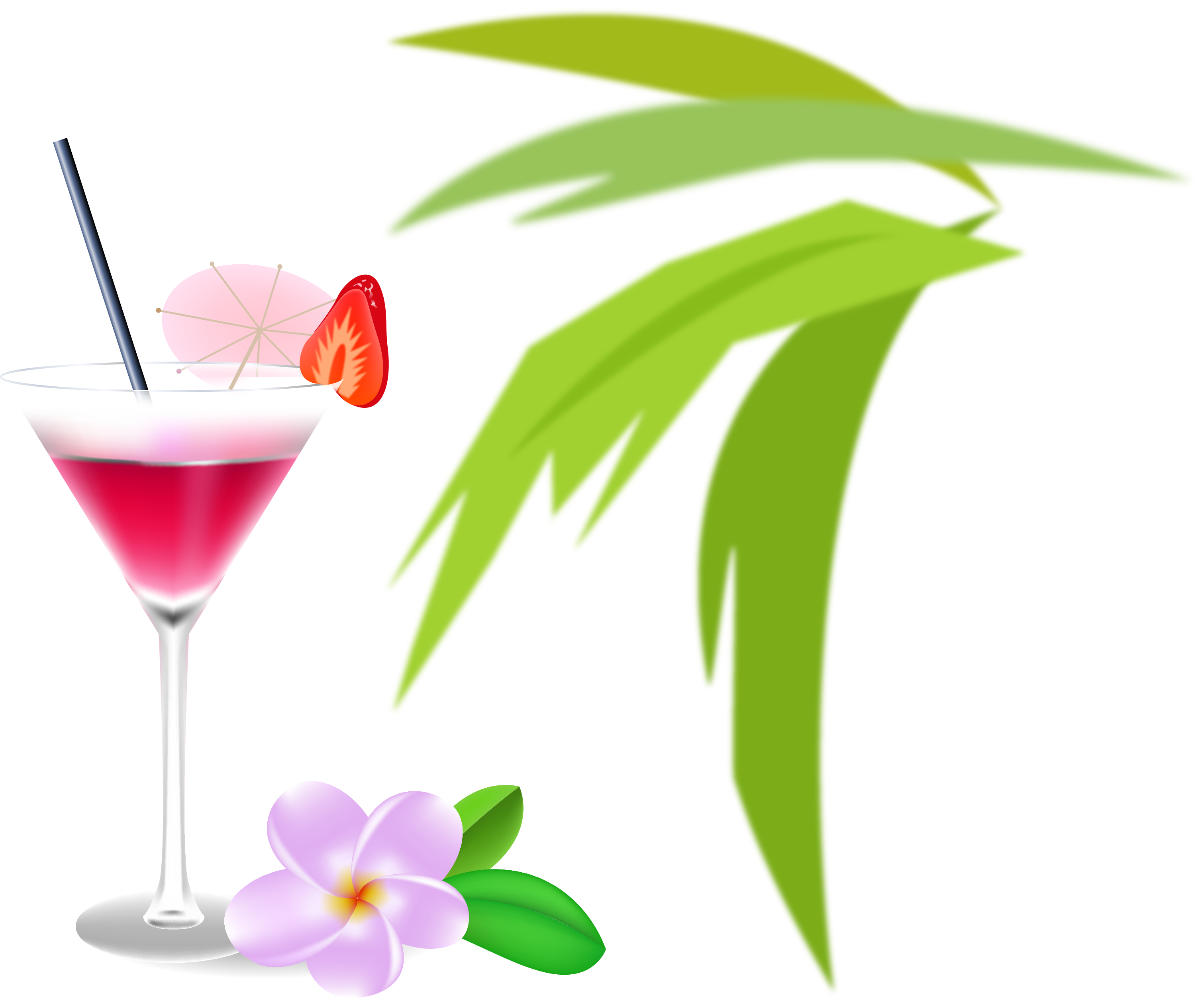 Wine cosmopolitan martini garnish. Cocktail clipart watercolor