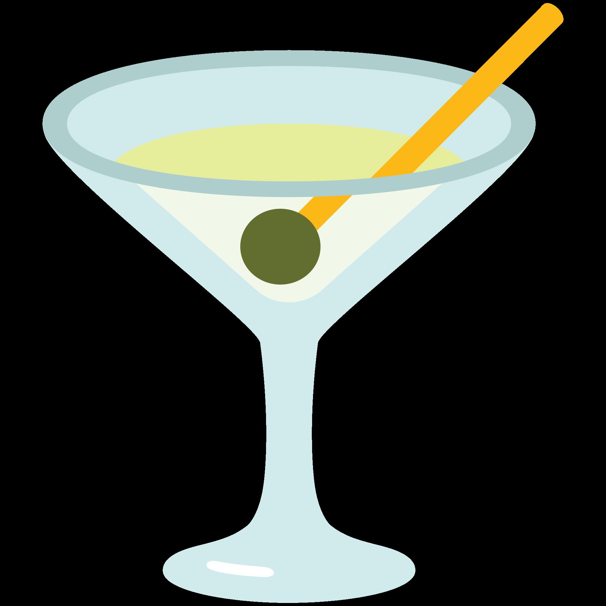 Cocktails clipart welcome drink. File emoji u f