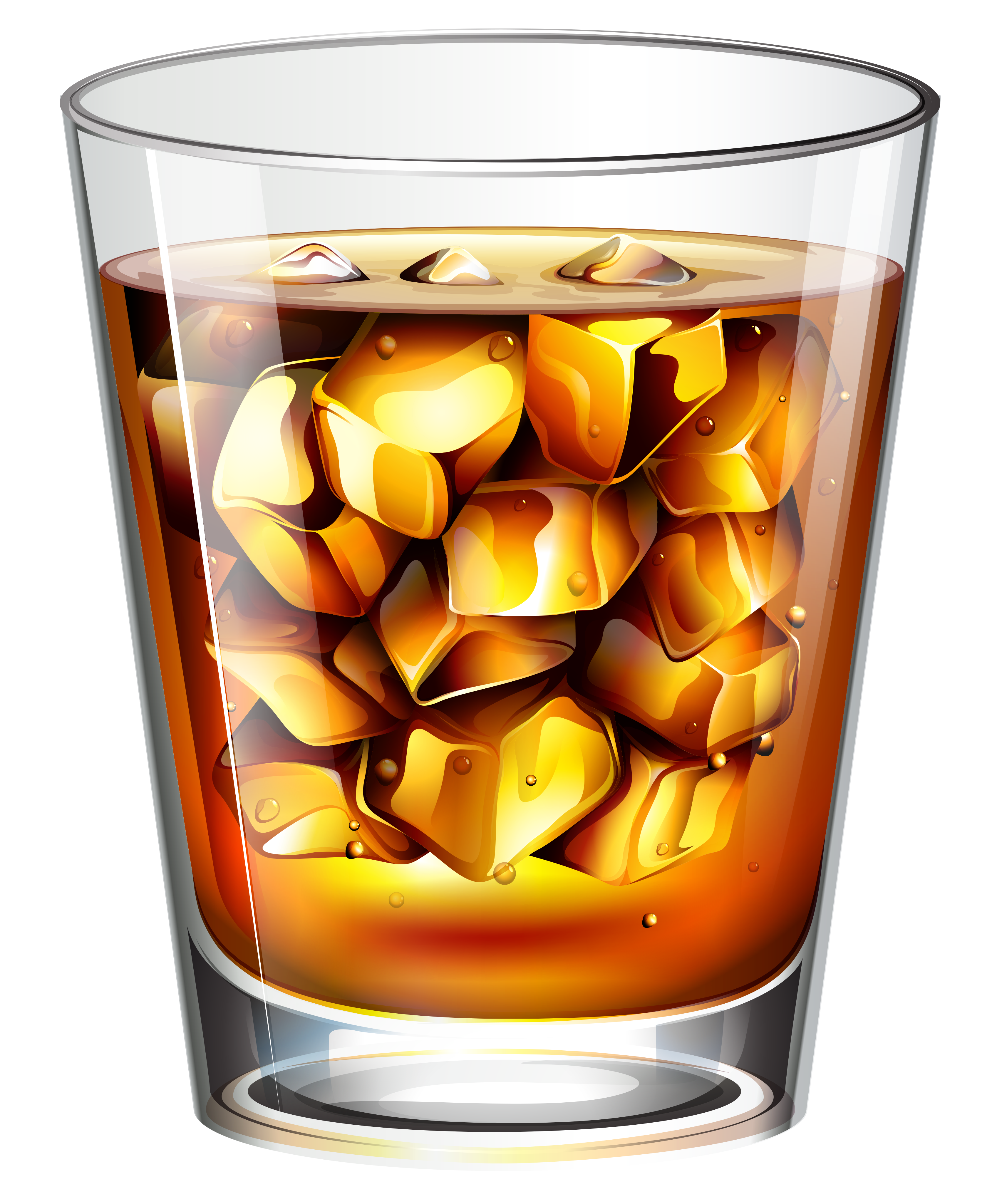 Cocktails whisky glass