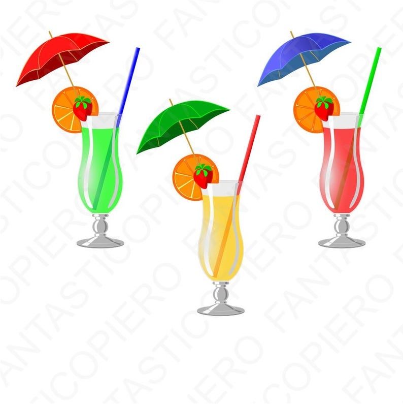 Cocktail green red jpg. Cocktails clipart yellow