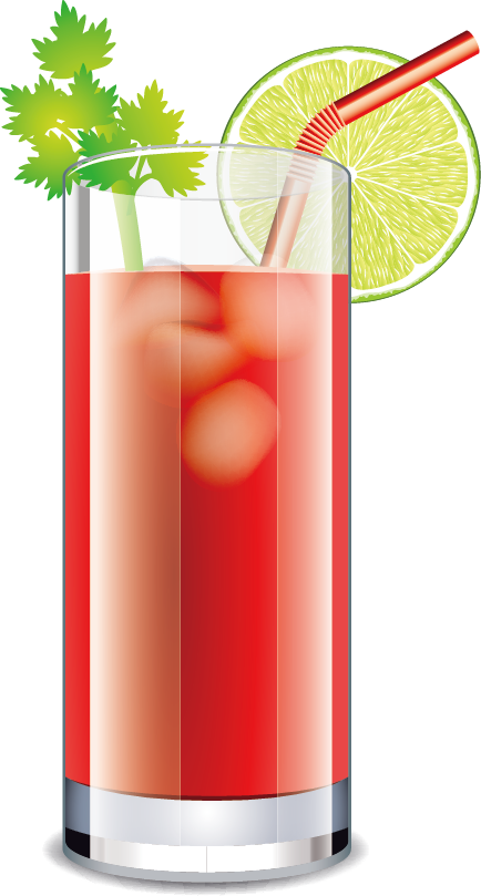 Bloody mary c ctel. Cocktails clipart blue lagoon