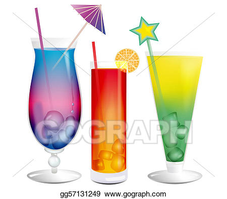 Cocktails clipart exotic. Stock illustrations fresh cooling