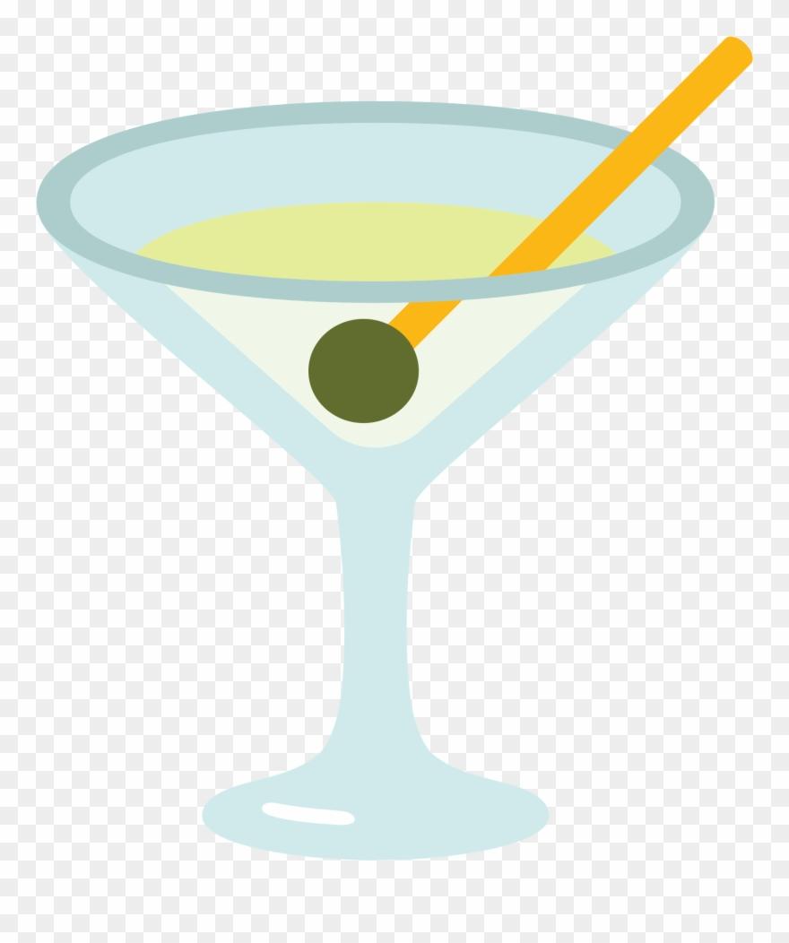 Martini clipart mixology. Cocktail emoji svg png