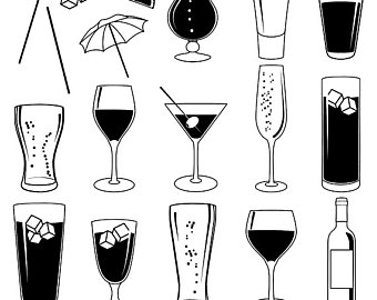 Cocktails clipart mix drink. Cocktail etsy