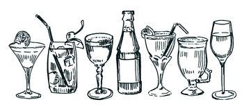 Free cocktail hour cliparts. Cocktails clipart outline
