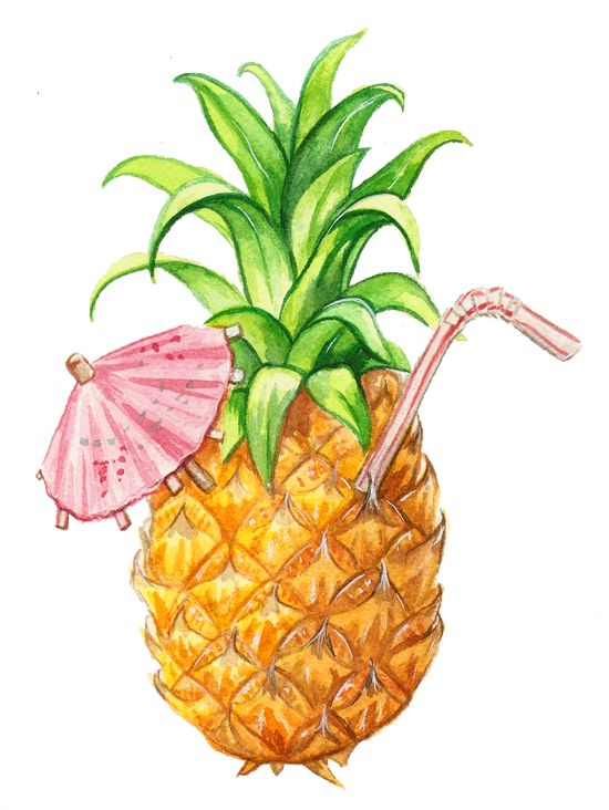 Cocktails clipart pineapple drink. Commission by alicia severson