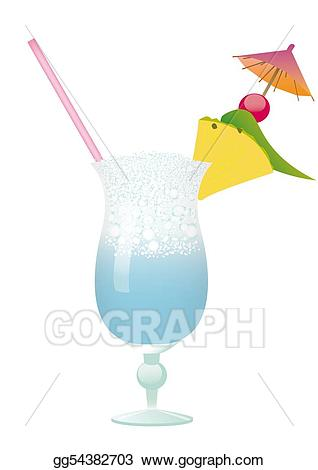 Drawing cocktail swimming pineapple. Drinks clipart pool