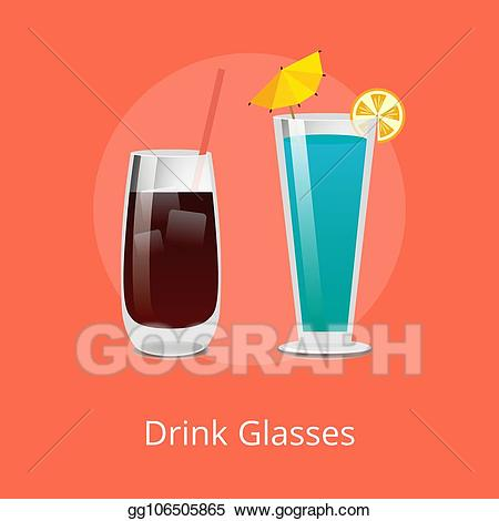 Cocktails clipart refreshing. Vector drink glasses vodka
