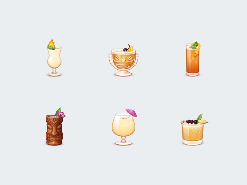 Cocktails clipart tiki drink. Beer emoji cocktail transparent