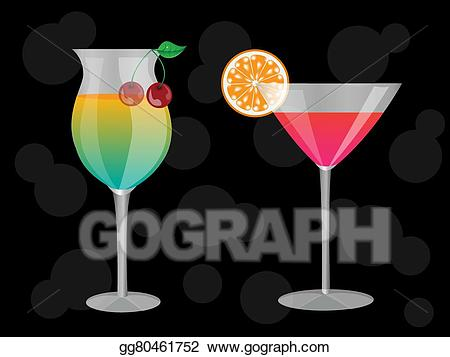 Vector stock illustration gg. Cocktails clipart two