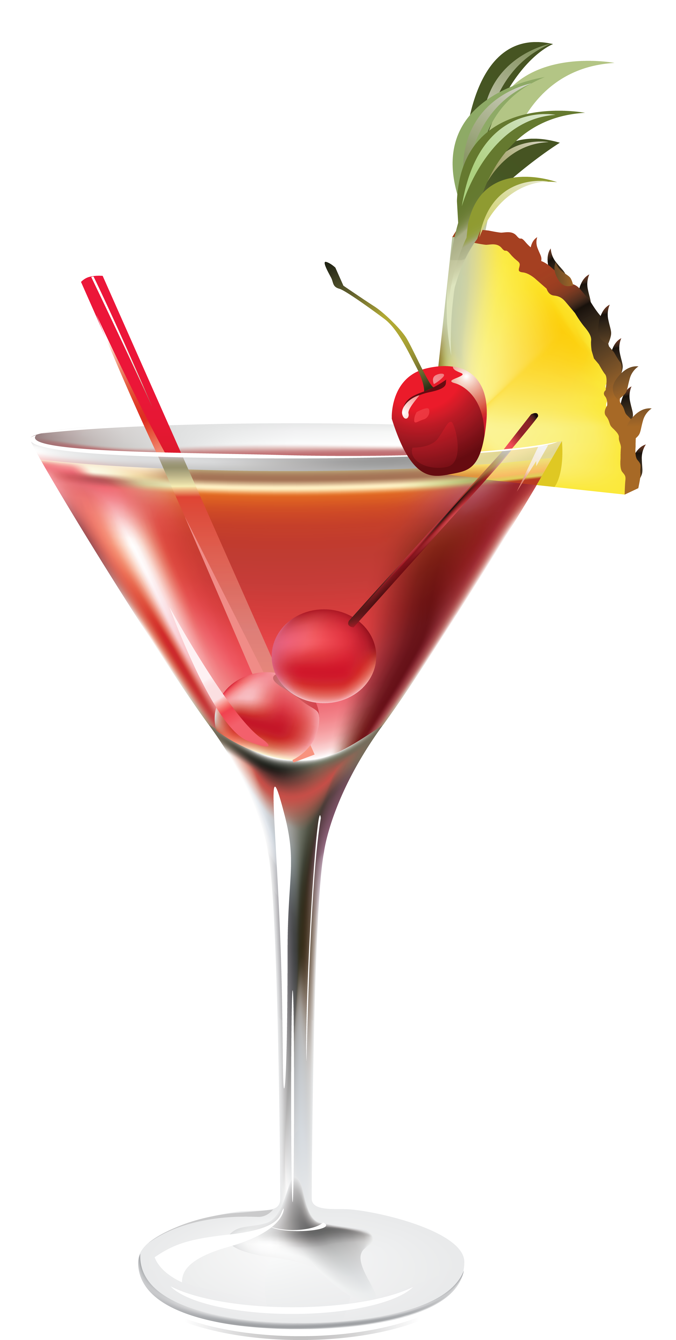 Cocktail with Pineapple PNG Clipart Picture