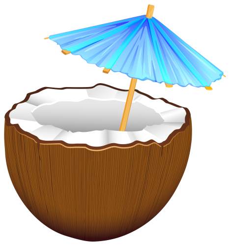 Tiki clipart buko juice. Coconut cocktail png clip