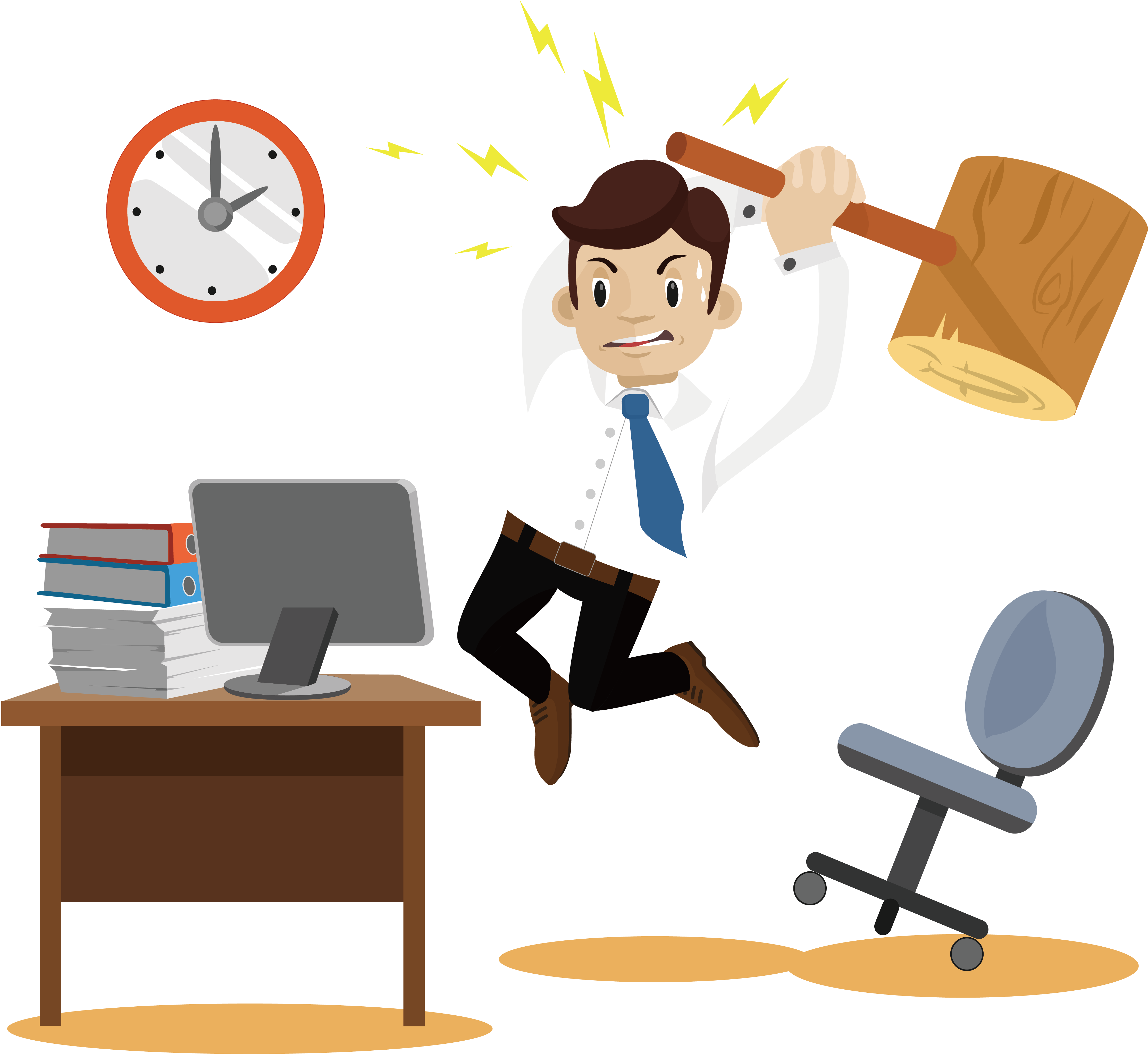 Businessperson anger illustration an. Coconut clipart angry
