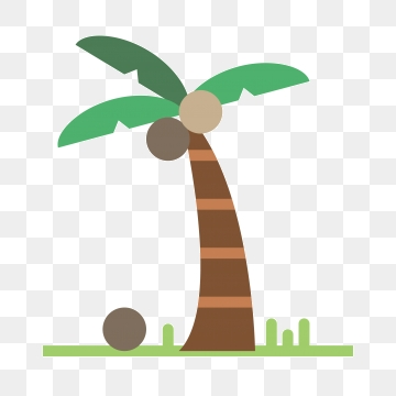 Coconut clipart angry. Cartoon trees png vector
