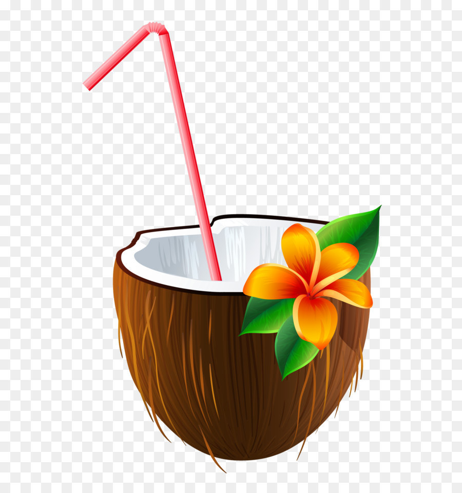 Coconut clipart coconut cup. Of coffee