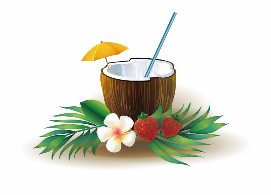Coconut clipart coconut cup. Juice water happy eid