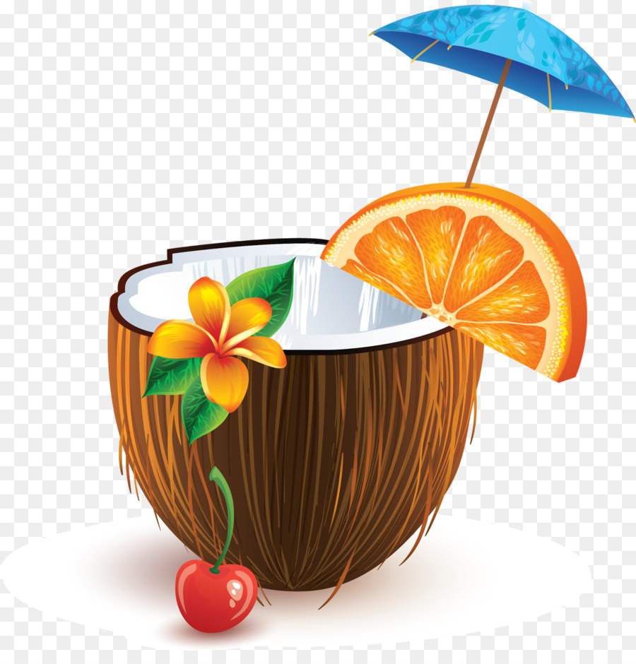 Coconut clipart coconut cup. Cartoon cocktail