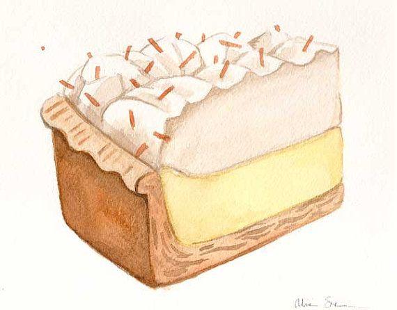 Cream slice by alicia. Coconut clipart coconut pie