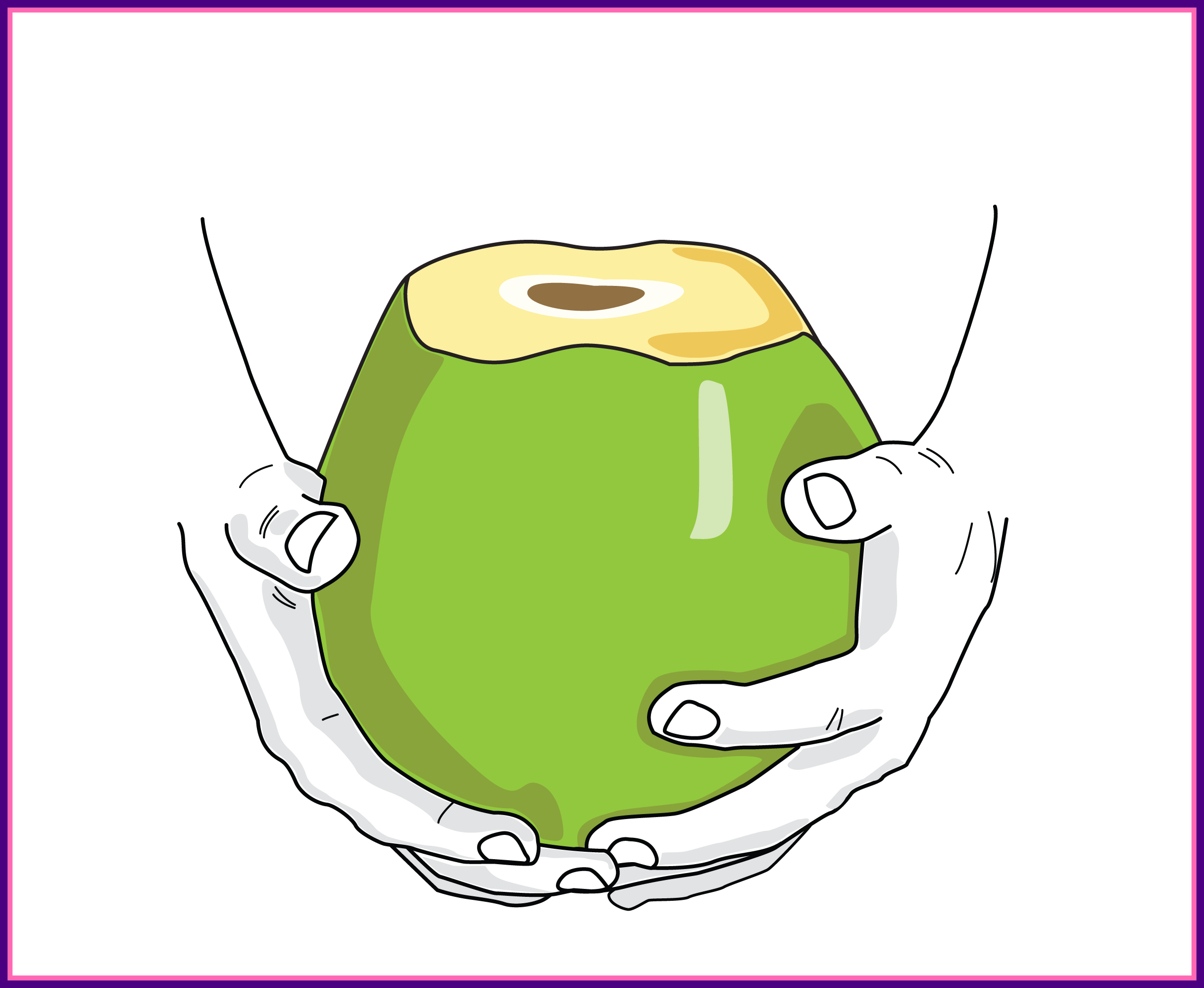 Marvelous day seven is. Coconut clipart cute