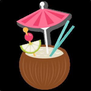 Tiki clipart buko juice. Coconut drink svg my