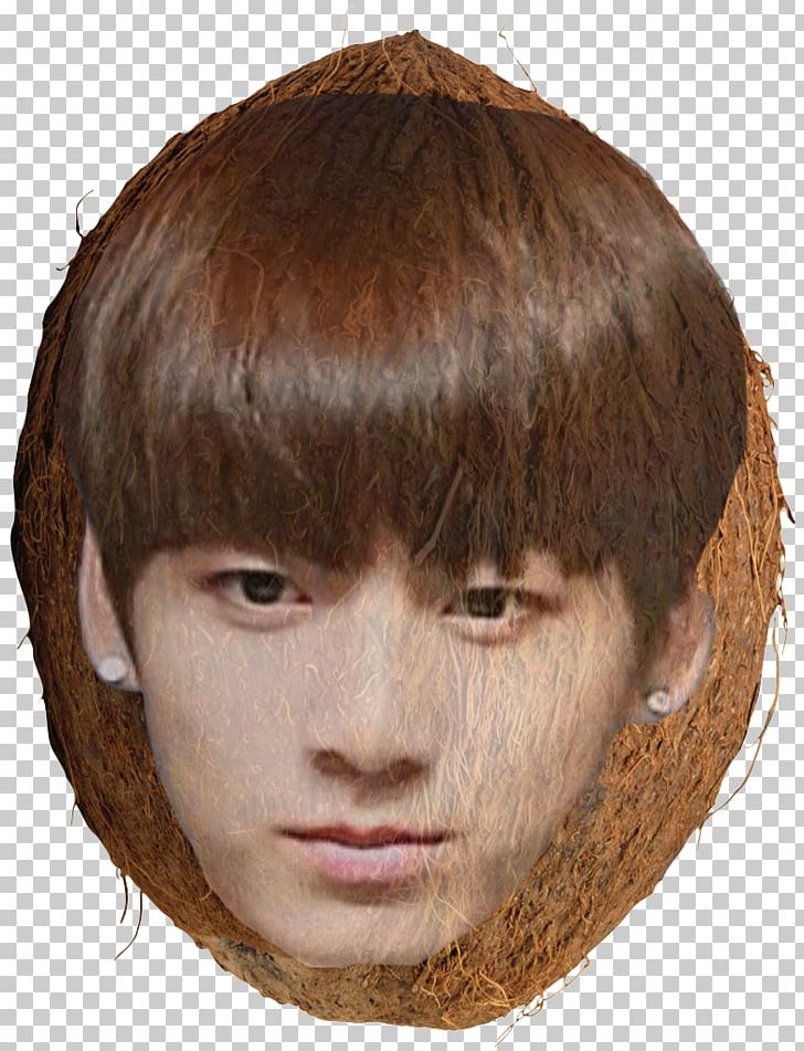 Coconut clipart face. Jungkook forehead chin png