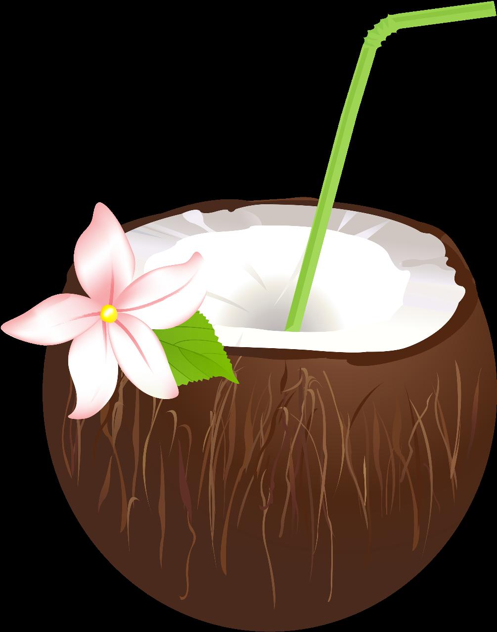 Drink drinks cocktails flower. Coconut clipart gold cocktail