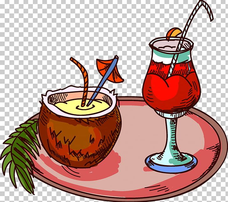 Coconut clipart gold cocktail. Juice water milk png