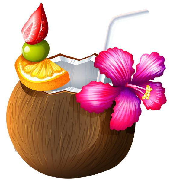 Free coconut cliparts download. Drink clipart luau