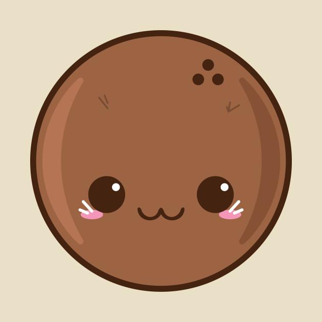 Cute . Coconut clipart kawaii