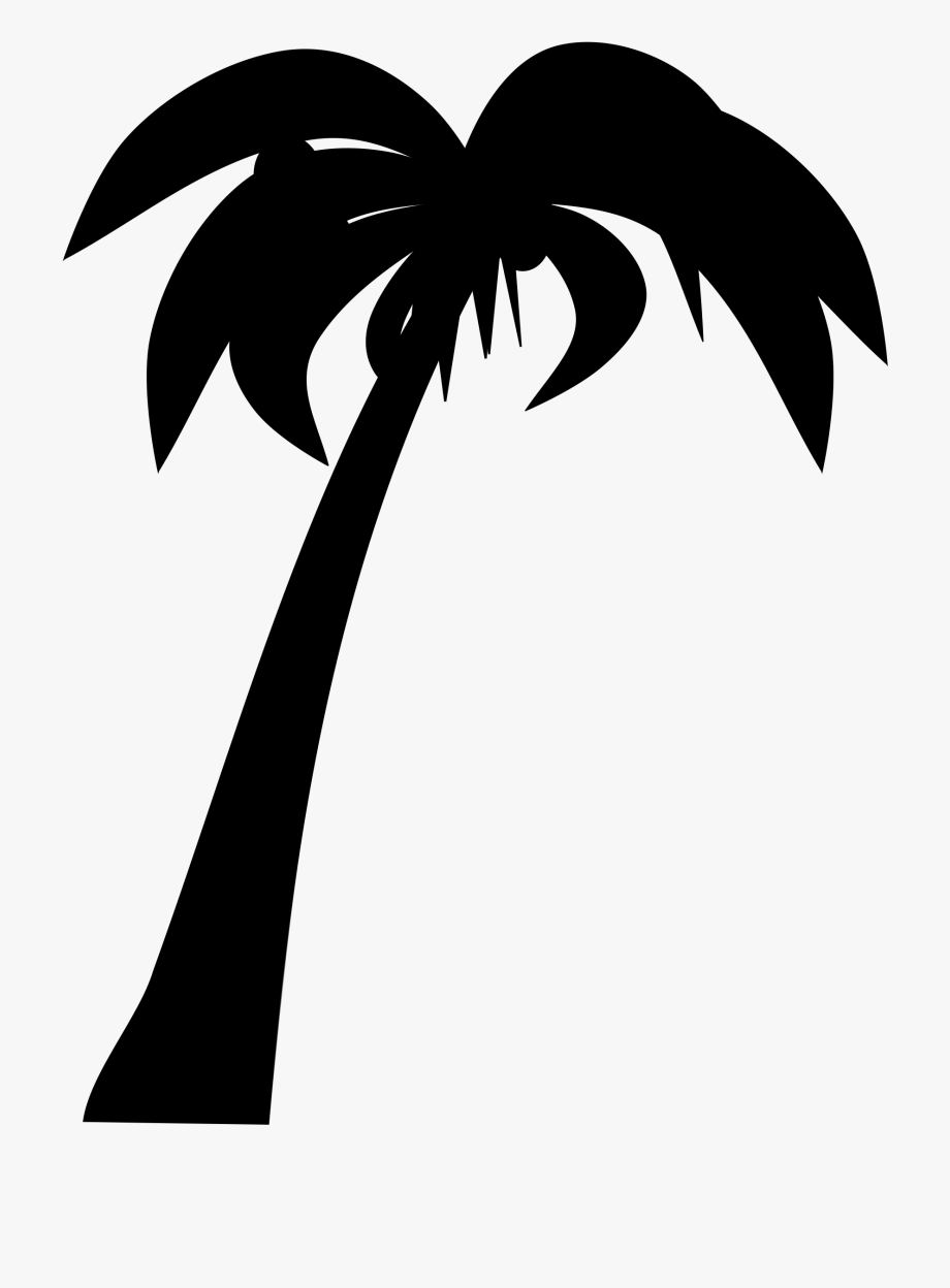 Coconut clipart large. Palm tree black and