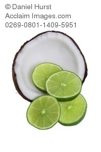 Coconut clipart lime. Stock photo of and