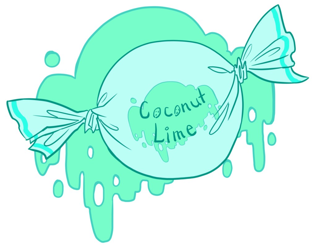 Coconut clipart lime. Candy by dinosaurolophus on