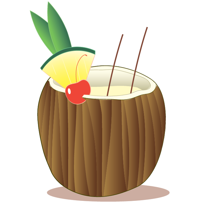 Drinking clipart rum. Free pina colada cliparts