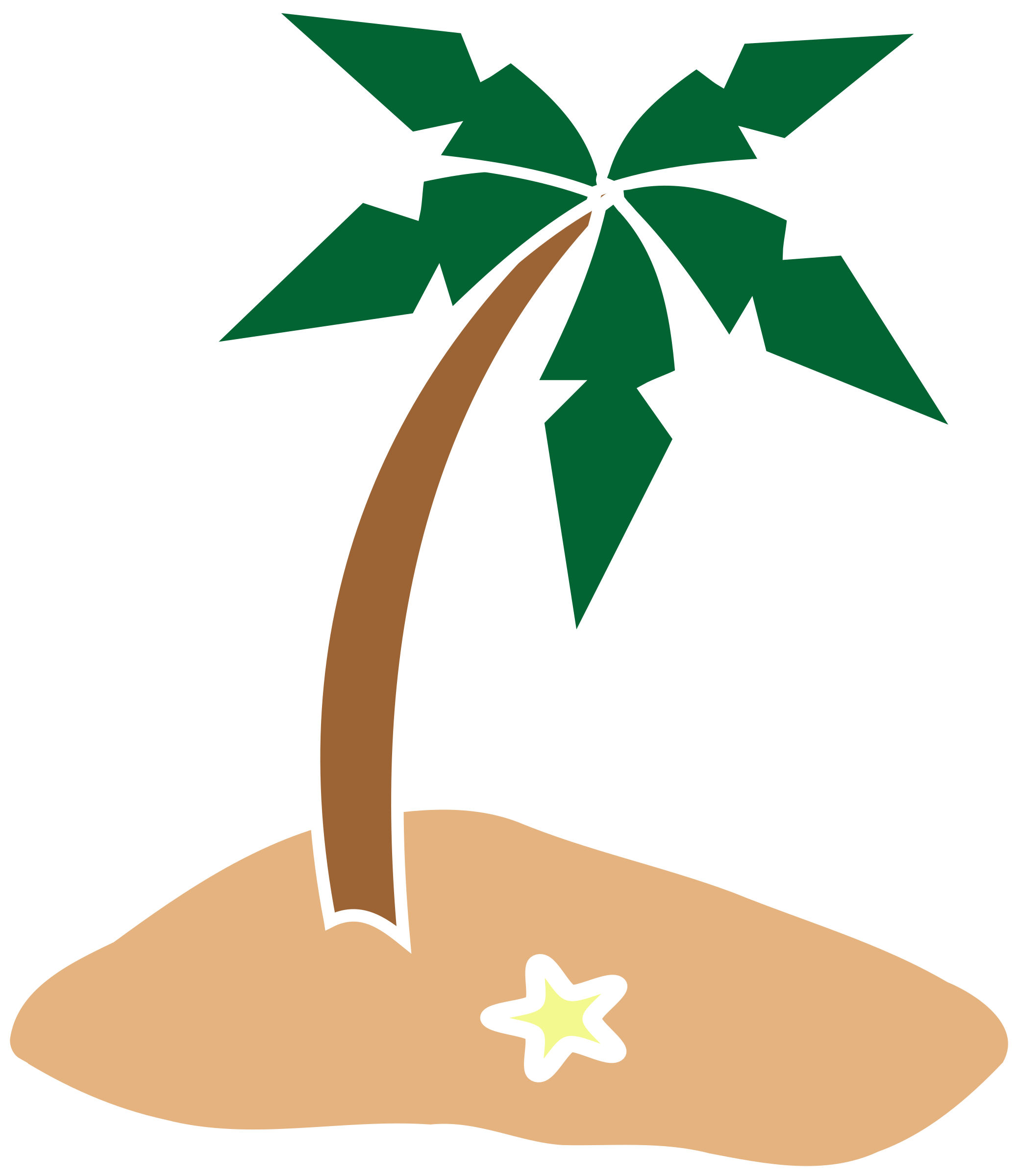 Island big image png. Palm clipart simple
