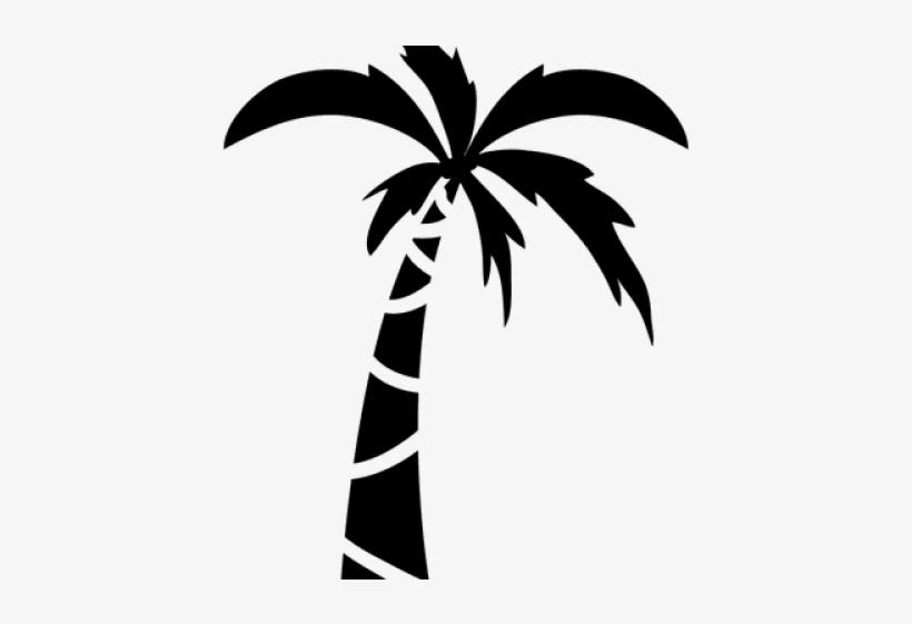 Coconut clipart simple. Monochrome tree palm
