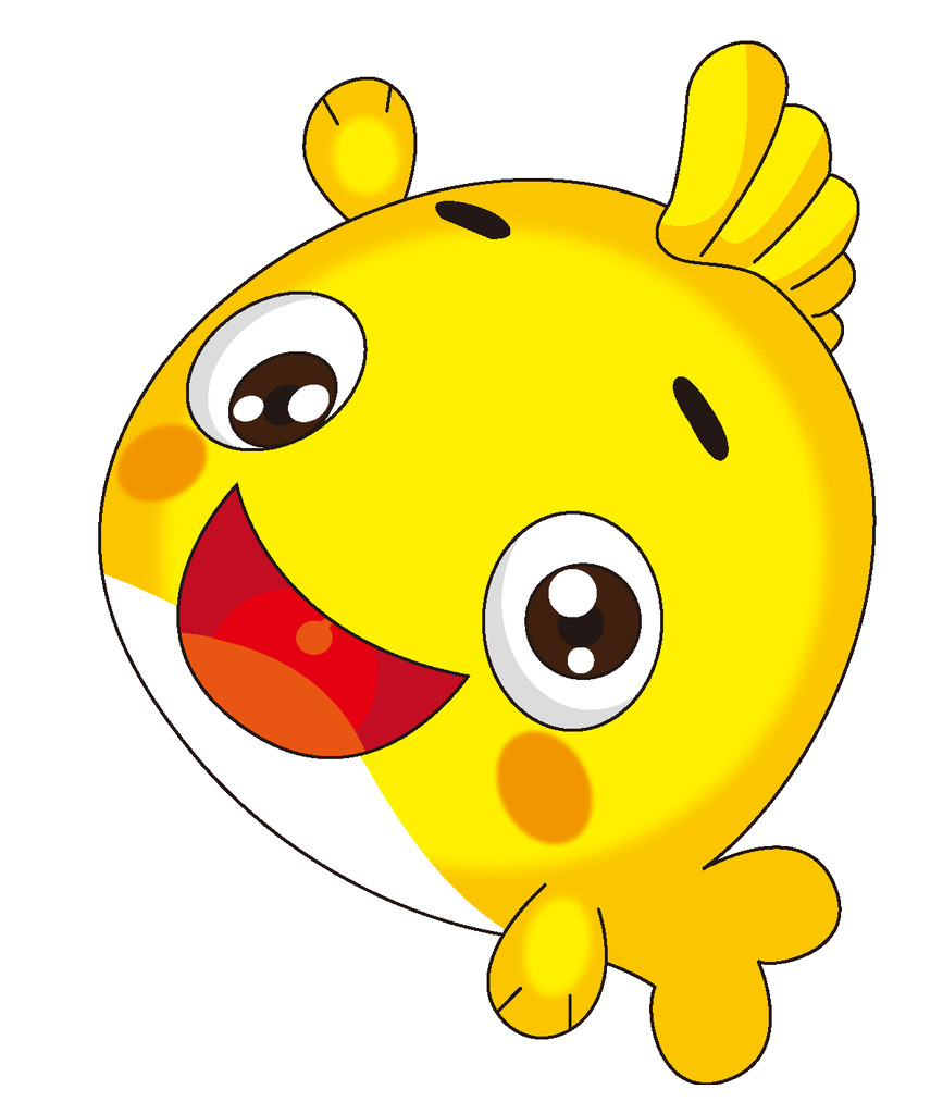 Pomegranate clipart smiley fruit. Yellow fish cartoon clip
