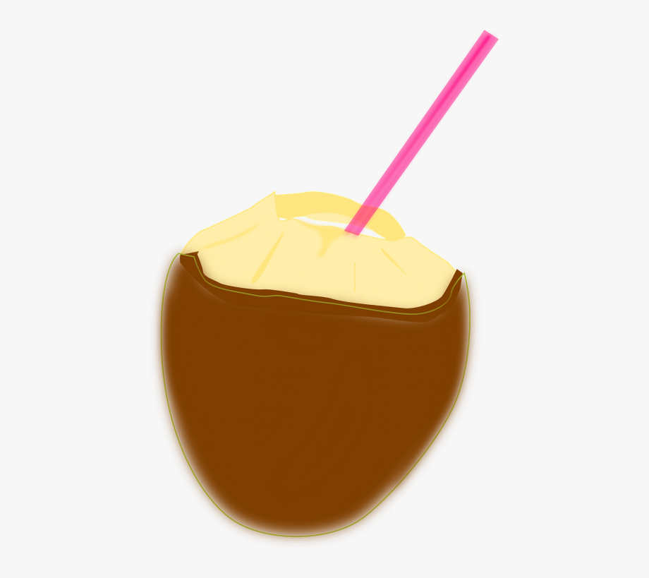 Coconut clipart straw clipart. Milk tropical drink beverage