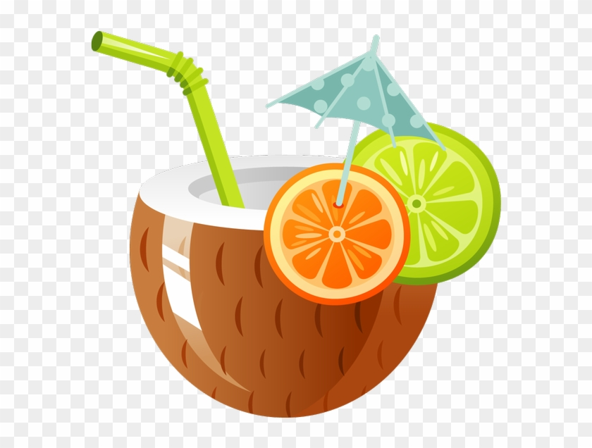 Cocktail drink clip art. Coconut clipart tropical coconut