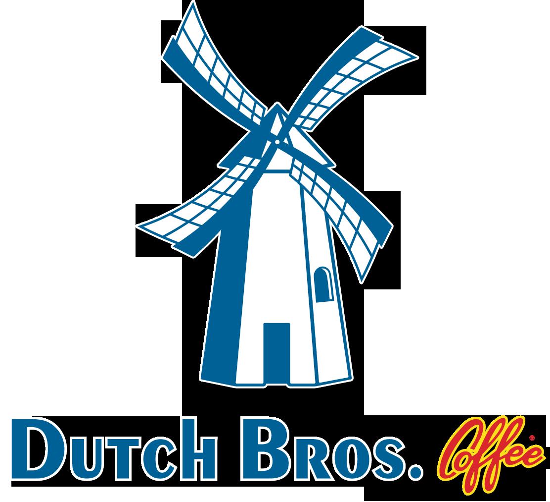 Dutch bros text logo. Coffee clipart blue