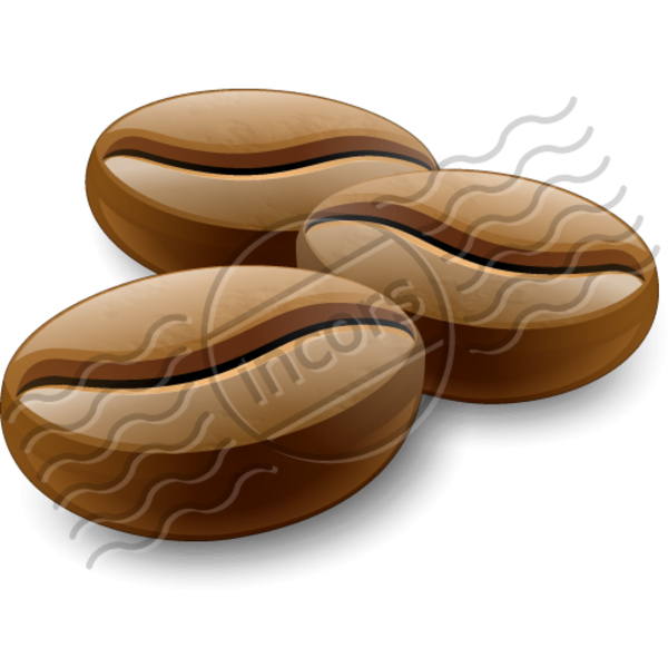 Coffee beans free images. Nut clipart bean
