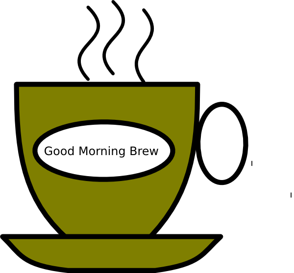 Brew clip art at. Wednesday clipart good morning