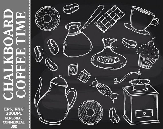 Coffee clipart chalkboard. Time clip art cup