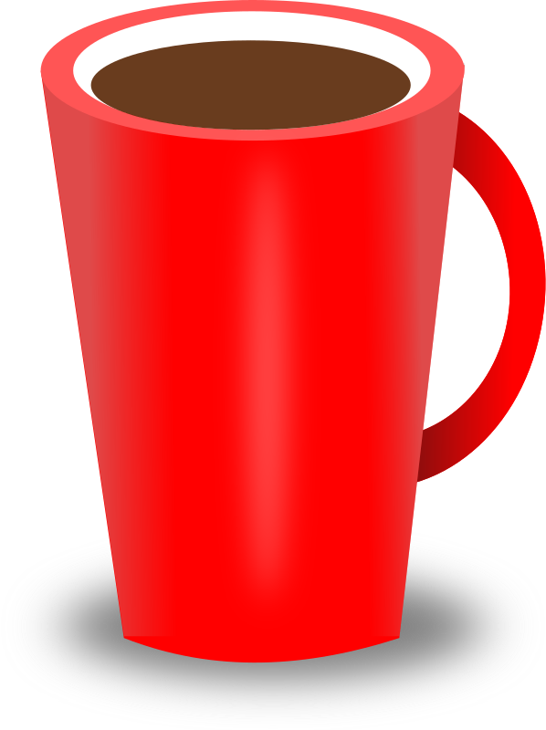 Coffee cup medium image. Red clipart color