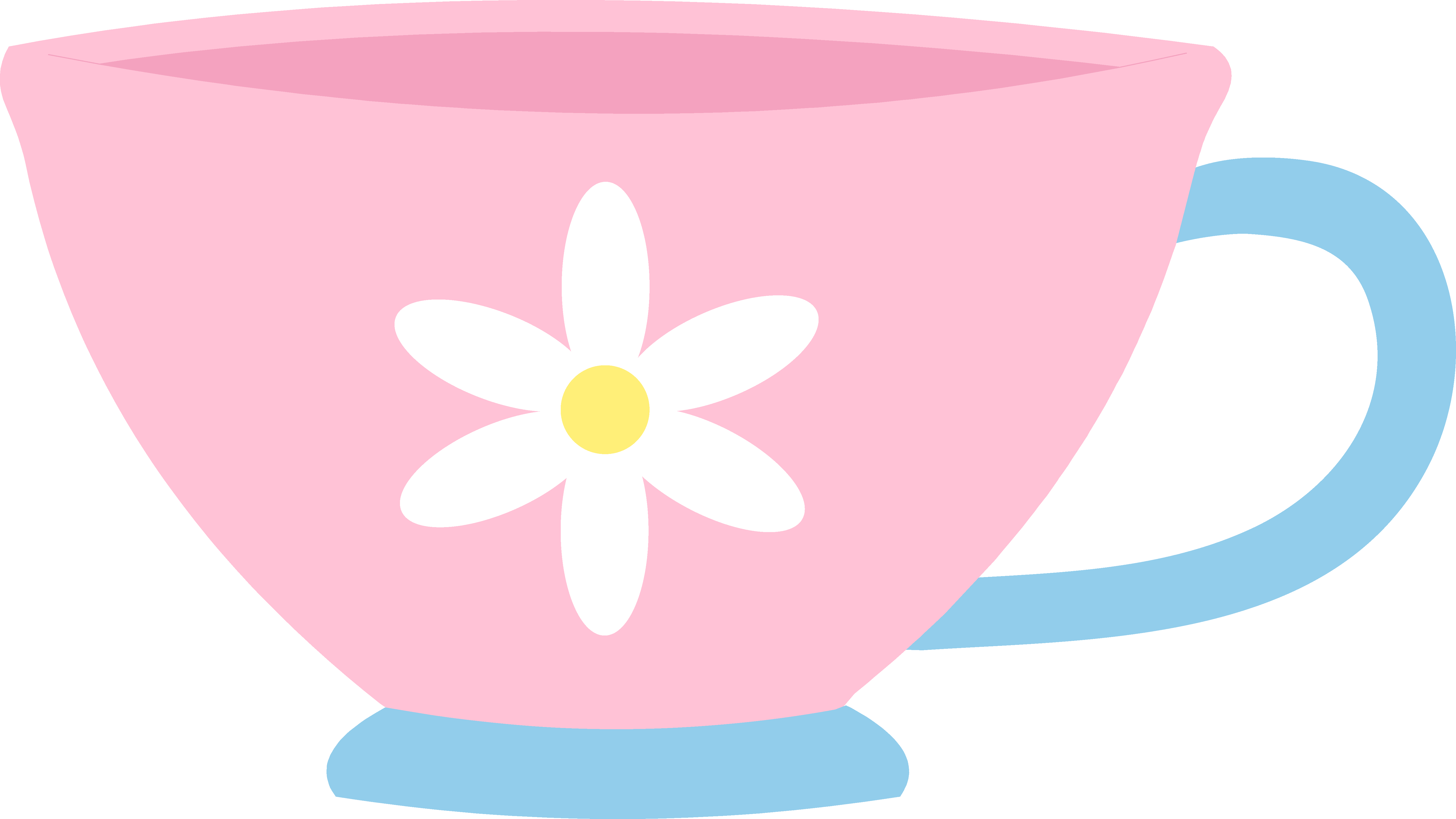 Cute pink teacup with. Tea clipart heart