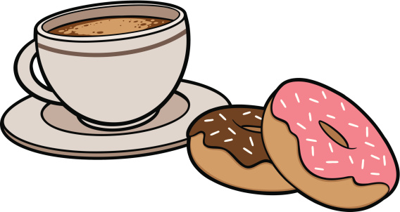 Free doughnuts cliparts download. Donuts clipart coffee