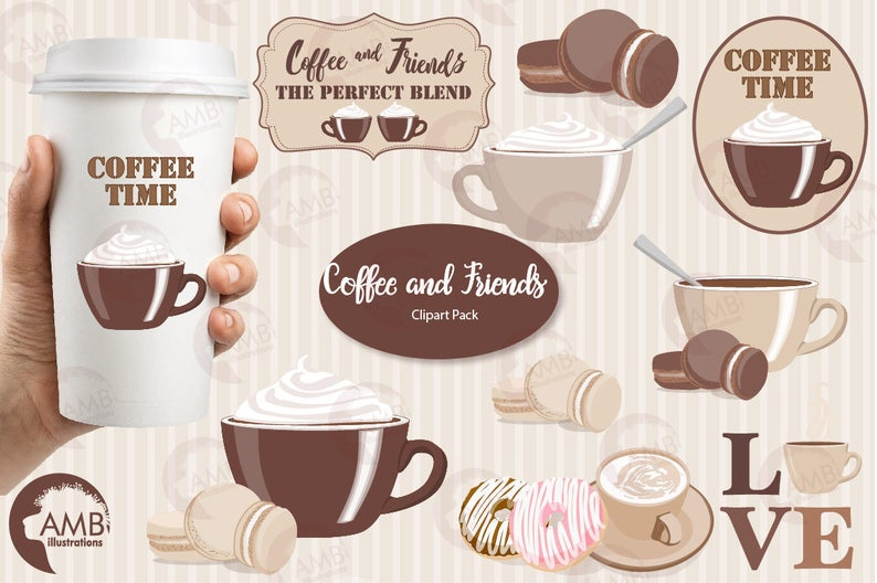 Time cups words digital. Coffee clipart frame