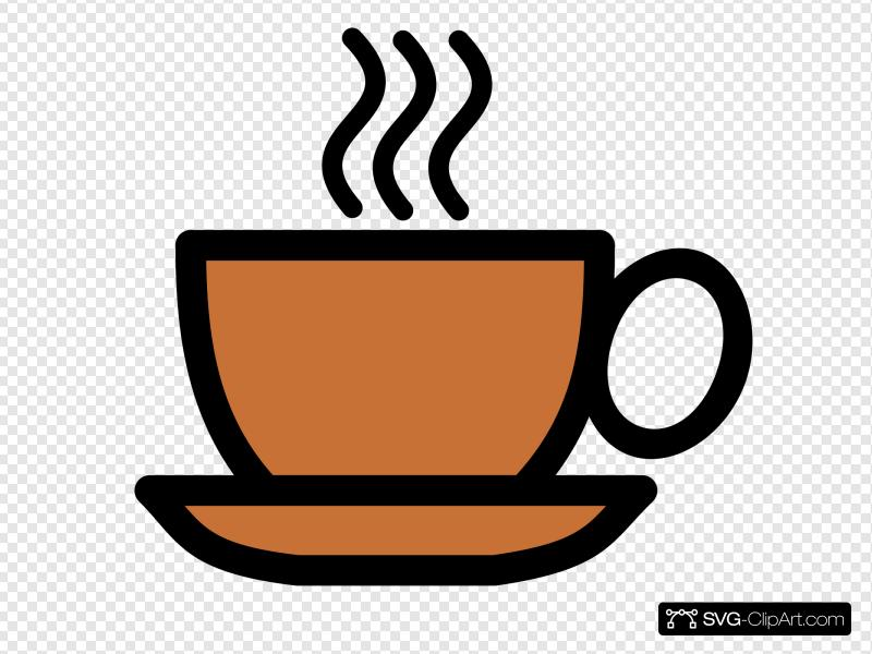 Clip art and svg. Coffee clipart icon