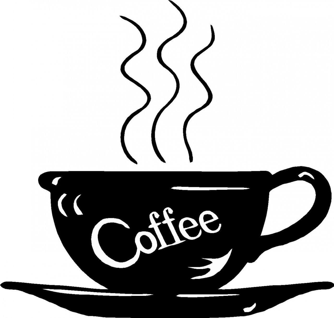 Black and white best. Coffee clipart line art