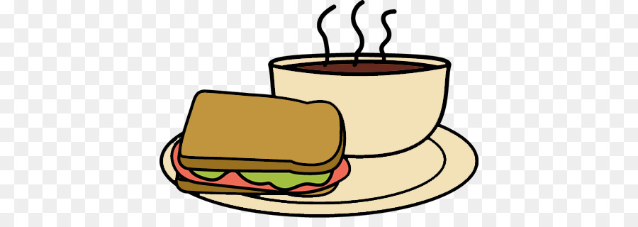 Coffee clipart sandwich. Cup of soup bacon
